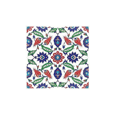 Iznik Tile Lotus and Saz Palmettes