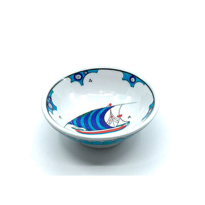 Iznik bowl with ship design
