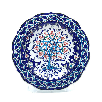hand made Iznik Plate Tree of Life Pattern
