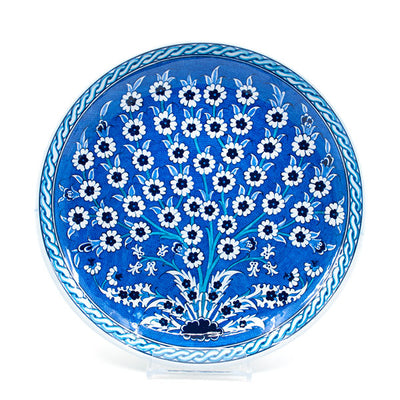 Blue and White Iznik Plate Tree of Life
