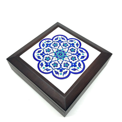 Iznik tile wood box