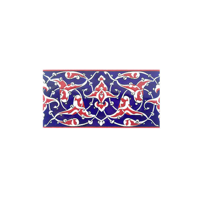 Iznik Border Tile Palmette Design in Blue