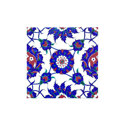 iznik tile with Floral and Rosette Design