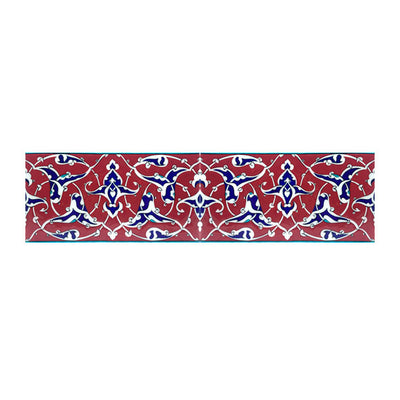 Iznik Border Tile | Palmette Design