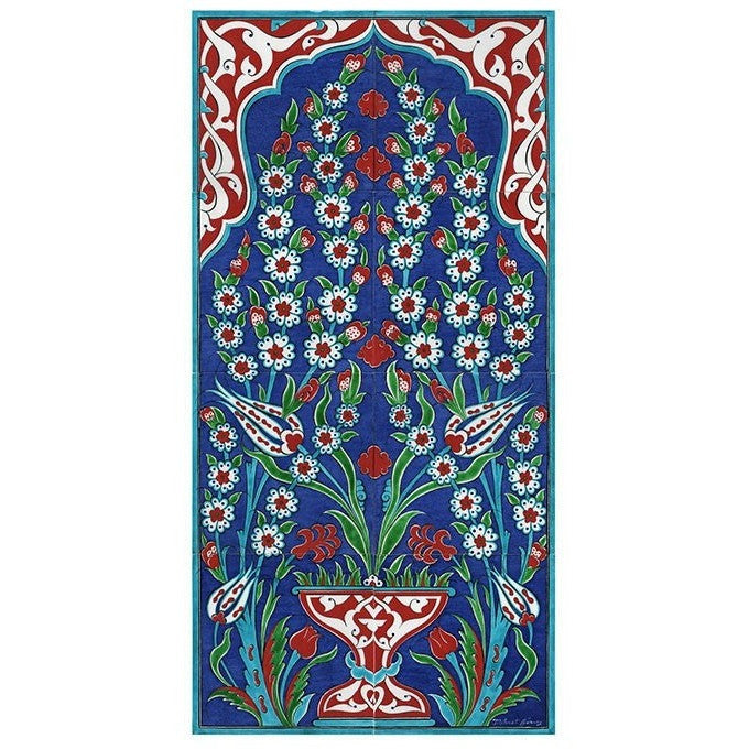 Panel - Iznik Panel | Tree Of Life With Tulips