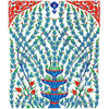 iznik tile panel rumi pattern