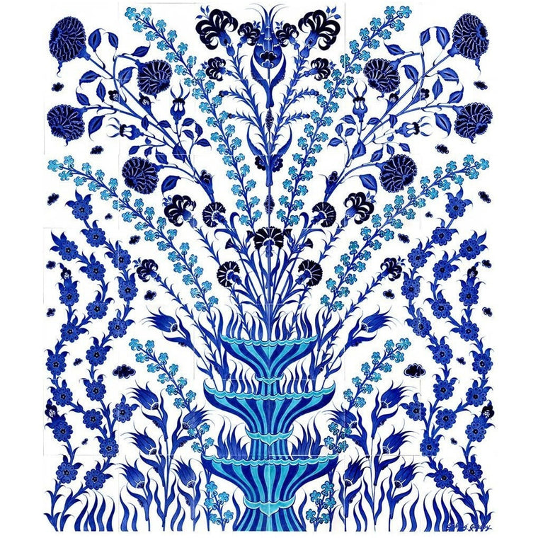 Panel - Iznik Tile Panel |  Floral Design