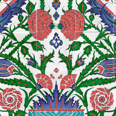 Iznik Tile Panel Stylized Rose