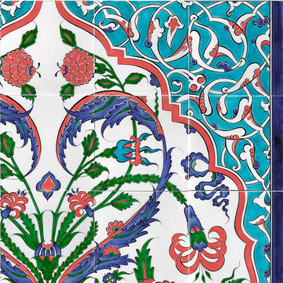 Iznik Tile Panel Hand decorated