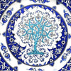 Collection of iznik plates with tree of life pattern