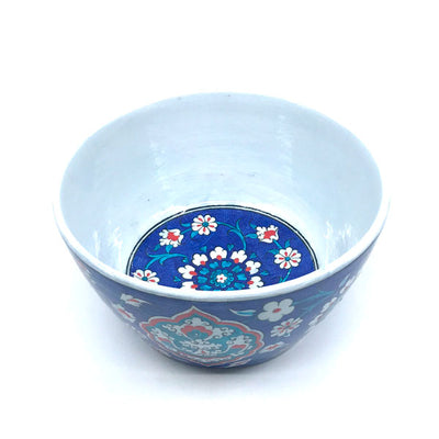 Iznik ceramic high bowl with floral design