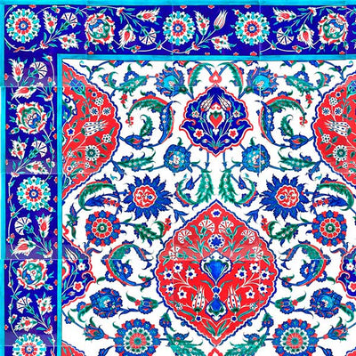 iznik tiles in selimiye mosque detail