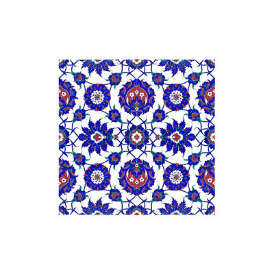 Floral and Rosette Design iznik tile
