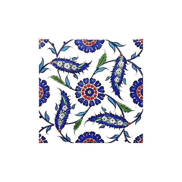 Iznik Tile Stylised Rosette Design