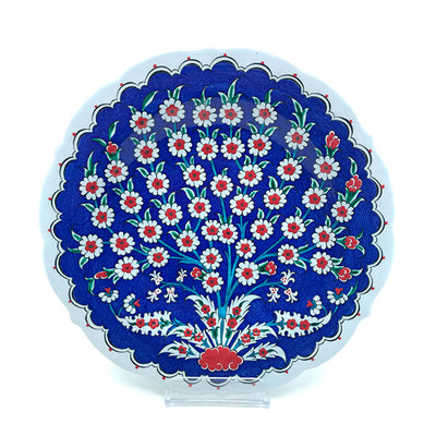 Iznik Plate Tree of Life Blue Ground