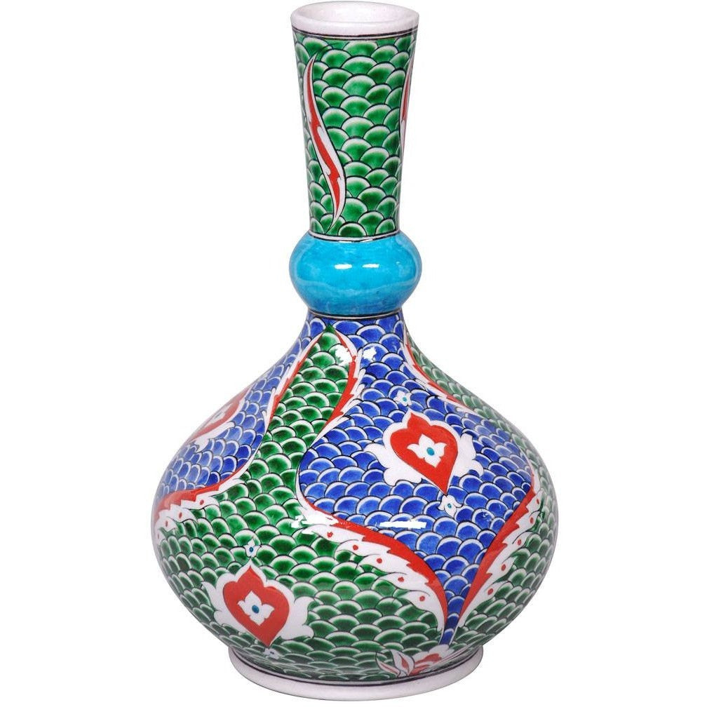 Vase - Iznik Vase | Fish-Scale Pattern