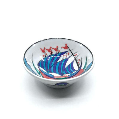 Iznik Galleon Design Serving Bowl