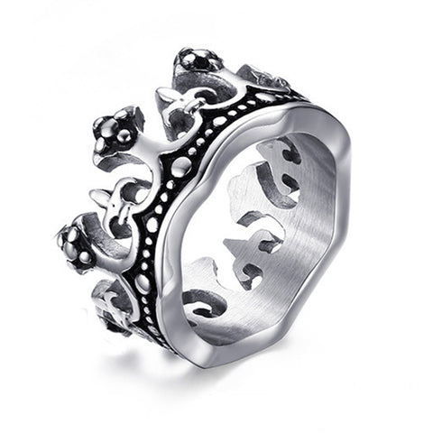 The King Crown Ring for Men Quality Titanium Steel Ring Vintage Men Ring Wholesale Never Fade or Rust