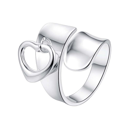 love heart cool adjustable for men Wholesale 925 jewelry silver plated ring big size , jewelry Ring for Women,