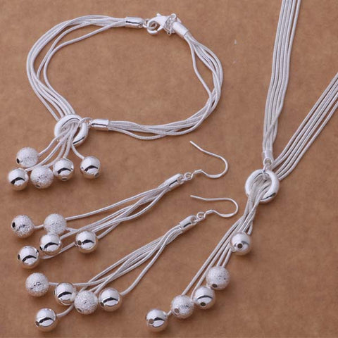 AS271 Hot 925 silver Jewelry Sets Bracelet 011 + Necklace 494 + Earring 324 /aktajcaa argajina