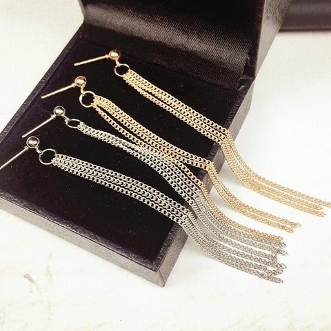 Vintage Tassel Earrings Earrings For Women Luxury Jewelry Long Dangle Earring e085