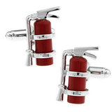High-end gift red material firefighters fire extinguisher cufflinks cuff nails French shirts cufflinks wholesale friends gifts