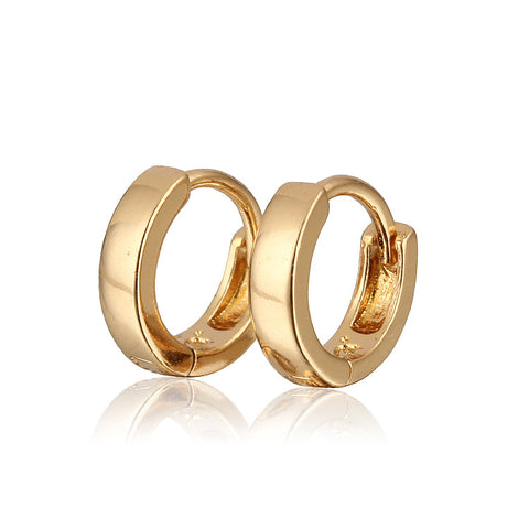 Aliexpress Sale Gold-Color Hoop Earrings For Girls/Children Earring New Fashion ping (E18K-82)
