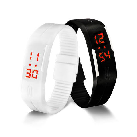 LED Digital Watch Electronic Wristwatches Lovers Men Women Watches Creative Calendar Colorful Rubber Smart Montre Femme