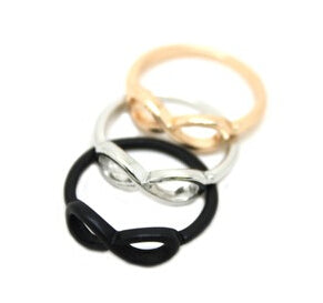 nz29 Hot!! New Style Fashion Alloy 8 Words Gold color /Silver color /Black color Ring Jewelry Accessories shipping!