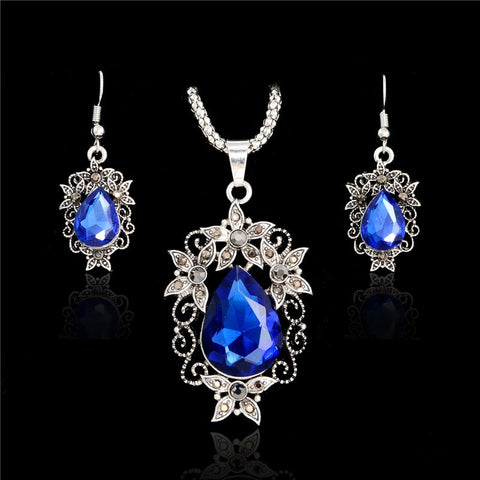 SHUANGR Austrian Crystal Jewelry Sets For Women Fashion Jewellery & Jewerly Silver-Color Bridal Wedding Jewelry Sets
