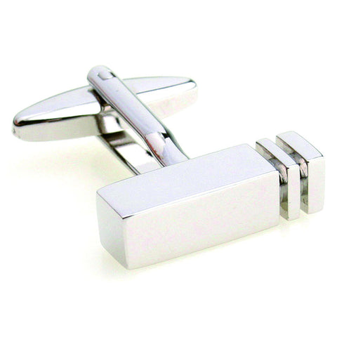 Clearance sales Rectangle Blank cufflinks Stainless Steel Lepton Brand business cuff links Wedding Party Gift for men Jewelry