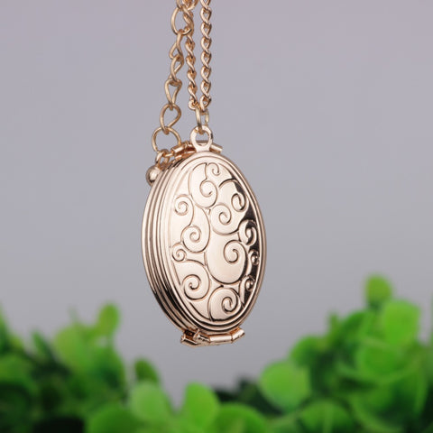 Personality Fold Photo Frame Pendant Necklace Can Put Three Photos Open and Close Necklaces Jewelry For Women YP2724