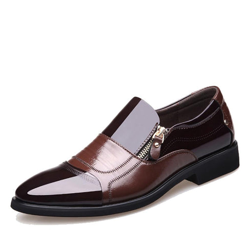 Spring Fashion Oxford Business Men Shoes in Genuine Leather