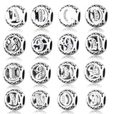 DIY Fit Charms Bracelet Alphabet Letter Charm With Clear CZ 100% 925 Silver Beads Jewelry Making