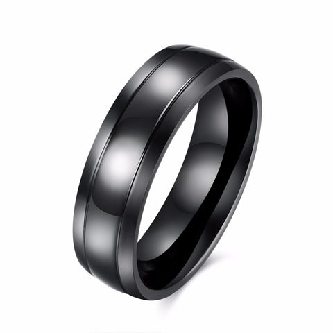 DCEE 6mm Men & Women Titanium Steel Plain Flat Comfirt Fit Wedding Band Thumb Ring Available