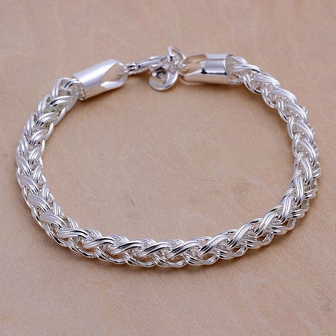 Creative twist circle chain women men silver plated bracelets new listings high -quality jewelry Christmas gifts