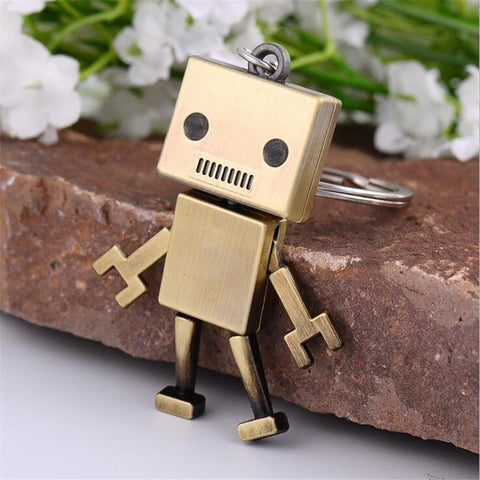 Alloy Robot Key-chain Creative Jewelry Key-rings