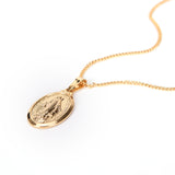 NEW Virgin Mary Necklace Christmas Gifts Silver/Gold Color Women/Men Jewelry Wholesale Cross Pendant Necklaces