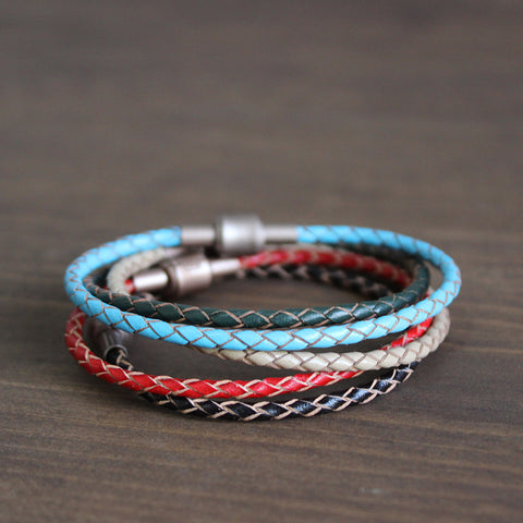 Hot Sale New Fashion Eastisan Brand Jewelry Buddhist Braided Leather Bracelets Bangles pulseiras Lucky Bracelets For Women/Men
