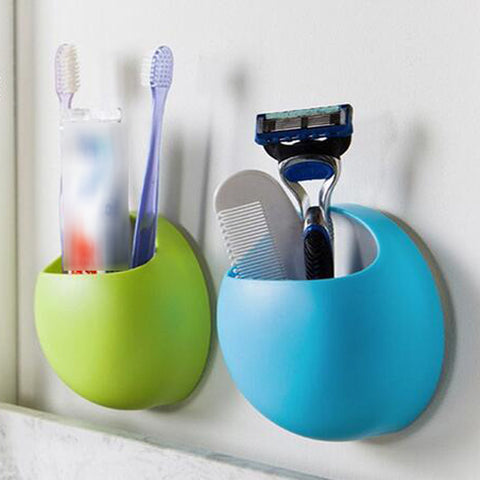 Bathroom Accessories Toothbrush Holder Wall Suction Cups Shower Holder Cute Sucker Toothbrush Holder Suction Hooks Bathroom Set