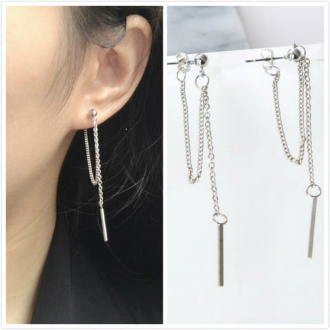 Version Of Jewelry Earrings Tassel Fashion Retro Long Earrings Chain Metal Texture Earrings Wholesale Statement Earrings
