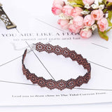 IPARAM New Style Black Brown Beige Velvet Choker Necklace Wide 17MM Burlesque Gothic Lace Ribbon Necklaces For Women