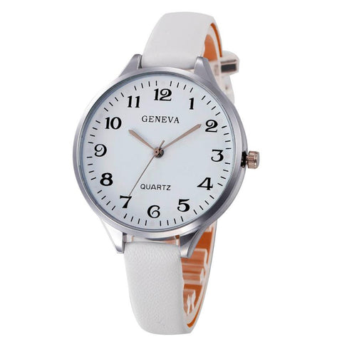 Fashion Ladies wrist watch Women casual Quartz watches Slim Leather Analog Quartz Wrist Watch Ladies watches gift clock #SW