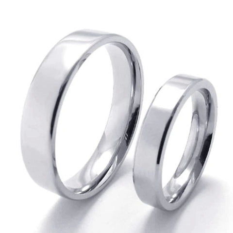 1pcs New Cheap stainless steel rings for women silver simple wedding ring men rings Jewellery Sale party gifts