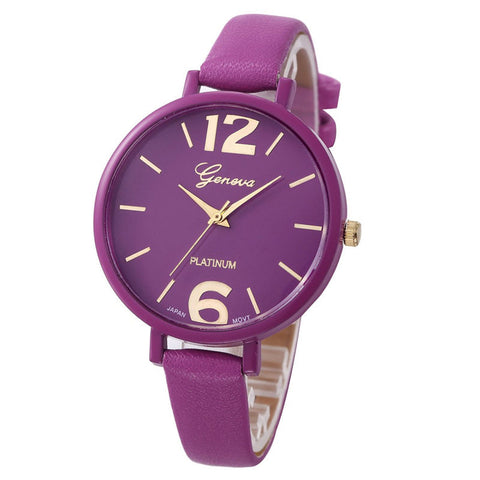 New relojes mujer Ladies Fashion Watches Women Dress Watch Quarzt relojes mujer PU Leather Casual Watch Relogio feminino