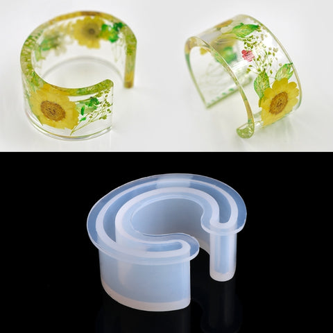 Silicone Mold Resin Bracelet Bangle Casting Mould For Jewelry DIY Making Tools t15
