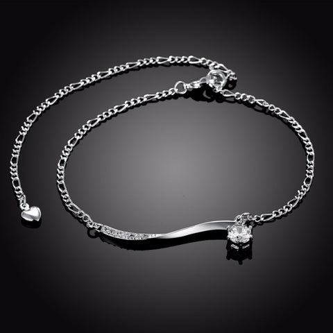 New 925 sliver ankle bracelet for women Foot Jewelry Inlaid Zircon Anklets Bracelet on a Leg Personality Gifts
