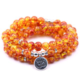 HONEYYIYI New Design 18 color High Quantity Natural Stone Bracelet 108 Mala Yoga Necklace Men Jewelry Bracelets & Bangles gifts
