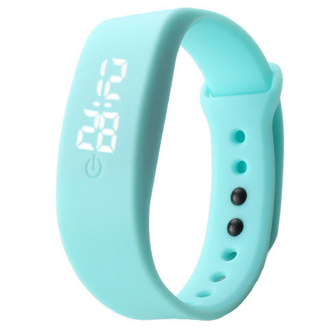 New Fashion candy color Women Mens Rubber LED Watch Date Sports Bracelet Digital Wrist Watch relogio feminino shipping NMZ12