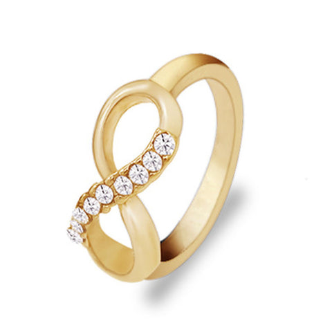 Fashion Pour Eight Pattern Alloy With All-match Simple Ring Jewelry Luxury Temperament Female